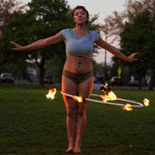 Fire Hooping with Sugar Hoops